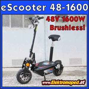 Konfiguration brushless eScooter 48-1600