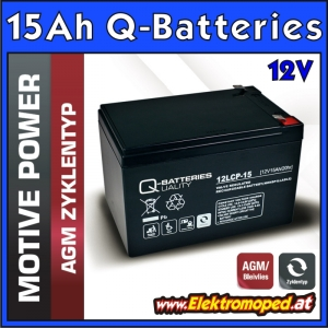 12V 15Ah Q-Batteries Akku Block
