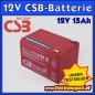 Mobile Preview: 12V 15Ah CSB EVH 12150 Blei- Batterie