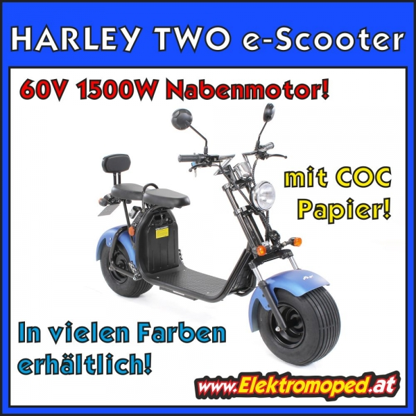 HARLEY TWO eSCOOTER 60V 1500W mit COC!
