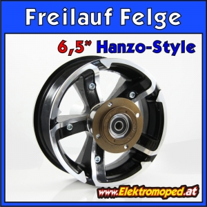 "6.5"" Alloy - freewheel - rear rim - hanzo style"